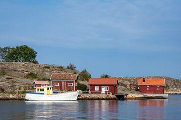 Blick auf die Wetterinseln vor der Stadt Fjällbacka in Schweden von Rico Ködder
