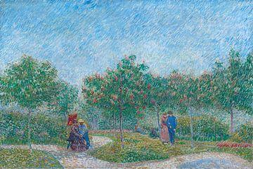 Courtiser des couples dans le Voyer d'Argenson Park à Asnières, Vincent van Gogh