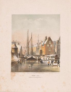 Eingefrorener Kanal in Groningen, zuletzt Carel Christiaan Antony,