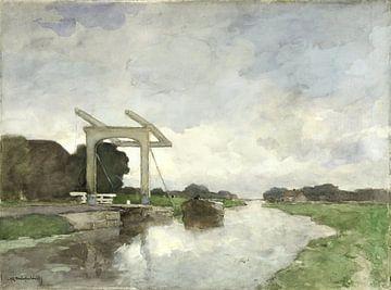Zugbrücke bei Nord, Jan Hendrik Weissenbruch