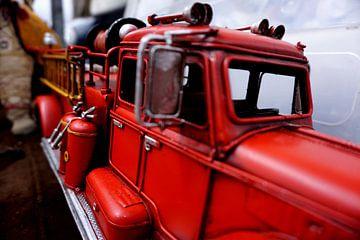 Vintage fire truck toy at IJ hallen Flea Market Amsterdam van Sanneke van den Berg
