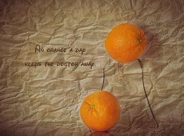 Orangenstillleben van Heike Hultsch