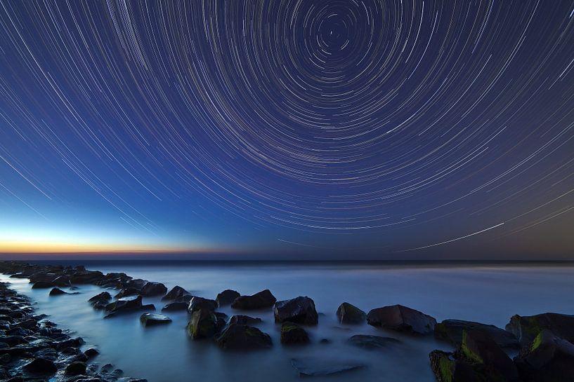 Rayures Star sur la mer du Nord sur Anton de Zeeuw