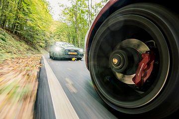 Audi RS5 - Porsche 911 sur Sytse Dijkstra
