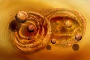 Das Sonnen Bild mit den zwei Kreisen