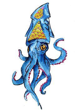 Blauer Tintenfisch von ZeichenbloQ