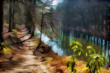 Door het bos, langs het water.  von Robert Wiggers
