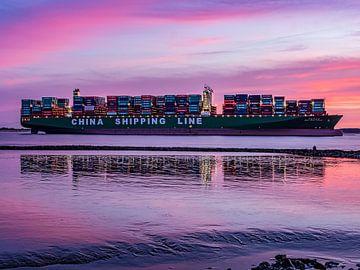 2016-02-07 Containerschiff CSCL Indian Ocean von Joachim Fischer