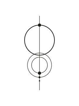 Minimalistische Kreise - Geometrischer Druck von MDRN HOME