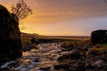 Wasser bei Sonnenuntergang von leon brouwer