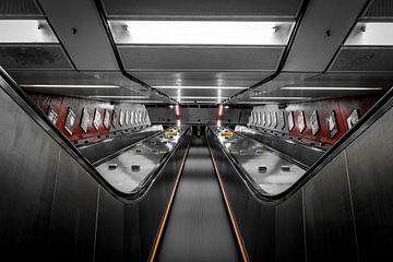 Verlaten roltrap, Hong Kong  von Nick Janssens