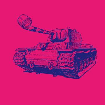 Party Tank - blauw/magenta van Rembrandt Ross