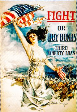 Fight or Buy Bonds poster WWII