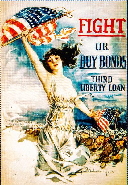 Fight or Buy Bonds poster WWII van Brian Morgan