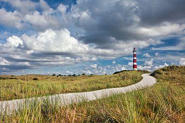 Leuchtturm auf der Insel Ameland von Frans Lemmens