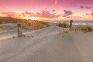 Zonsondergang in de duinen van Den Haag van
