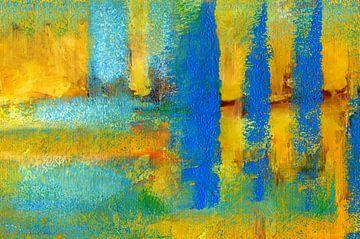 abstract landschap van Claudia Gründler