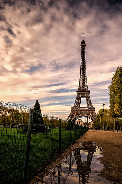 Paris in a puddle van Michiel Buijse
