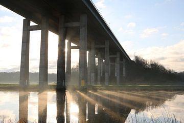 Hunte brug in de ochtend van Mattis Vollertsen