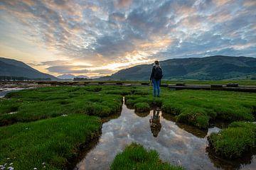 Sonnenuntergang Glencoe Vally Schottland Isle of Skye von Peter Haastrecht, van