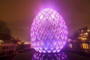 Light Festival in Amsterdam bij avond van Nisangha Masselink