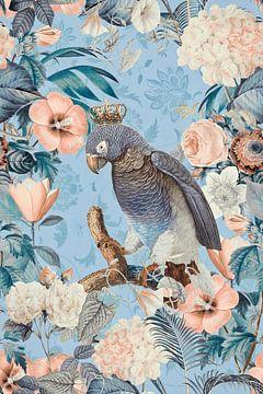 Perroquet au paradis des fleurs