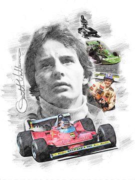 Gilles Villeneuve von Theodor Decker