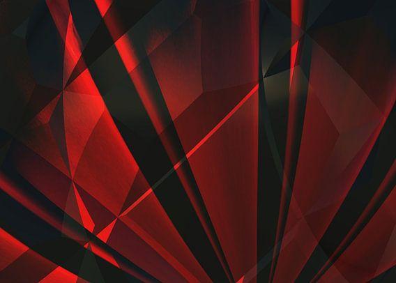 Abstractum in het rood