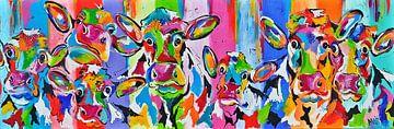 Koeien en kalveren van Kunstenares Mir Mirthe Kolkman van der Klip