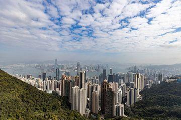 Hongkong Skyline van Jurgen Buijsse