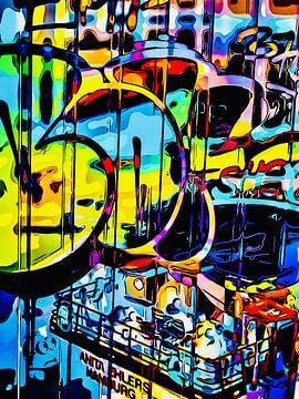 Graffiti aan de haven - motief 1