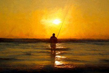 fishing the sun II van Bernd Hoyen