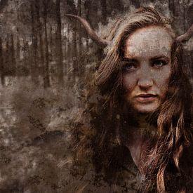Deer Woman van Steven Dijkshoorn