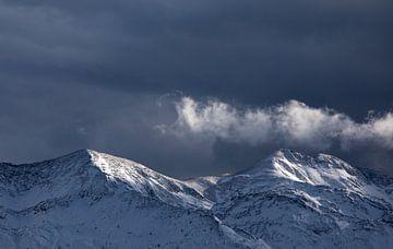 mooi licht na sneeuwstorm in Alpen, Slovenië van Olha Rohulya