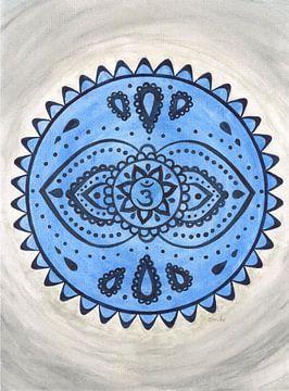 Voorhoofdchakra Mandala Ajna van Sandra Steinke