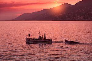 Zonsondergang in de Golf van Genua