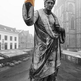 Haarlem: Lautje mit goldenem Kulturstern in schwarz-weiß von Olaf Kramer