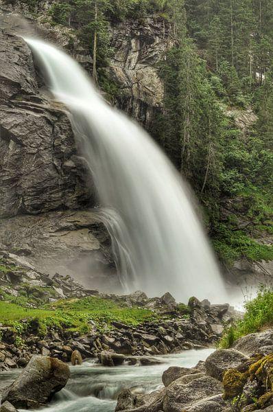 Krimml waterval van Martin Van der Pluym