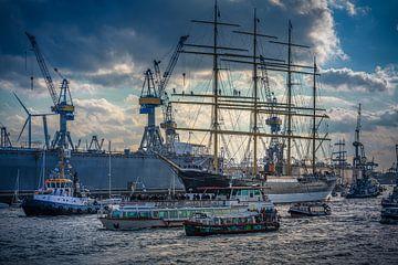 Aankomst van de Beijing in de haven van Hamburg van Ingo Boelter