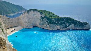 Scheepswrak strand: Navagio, Zakynthos - Griekenland van Be More Outdoor