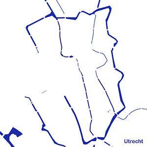 Waterkaart Utrecht van