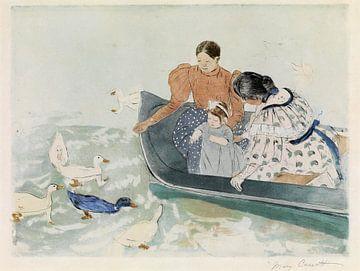 De eenden voeren, Mary Cassatt - 1894