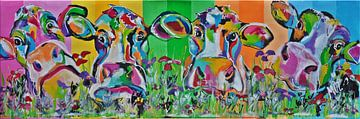 Koeien in kleur van Kunstenares Mir Mirthe Kolkman van der Klip