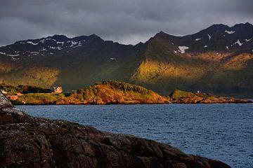 Senja in het licht van de middernachtzon - Noorwegen van Gisela Scheffbuch