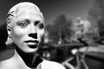 Brocante, Jordaan, Amsterdam (noir et blanc) sur Rob Blok