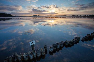 Sonnenaufgang Naturgebiet Botshol Vinkeveen von Peter Haastrecht, van