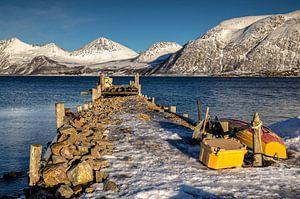 Winter op Kvaløya, Noorwegen