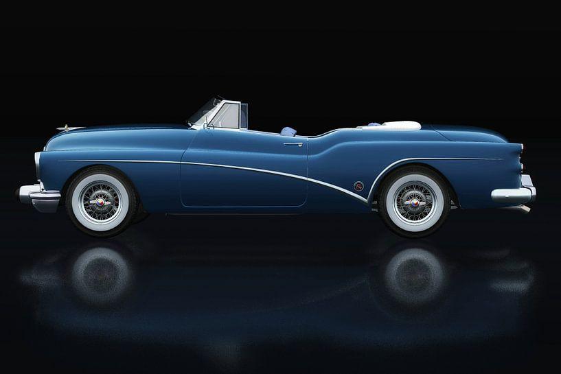 Buick Skylark Cabrio 1956. Seitenansicht von Jan Keteleer