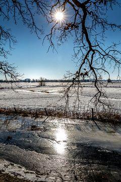 Historische Winterlandschaft in Amerongen von Jacques Jullens