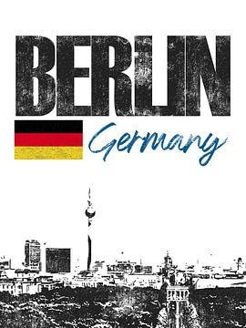 Berlin Deutschland von Printed Artings